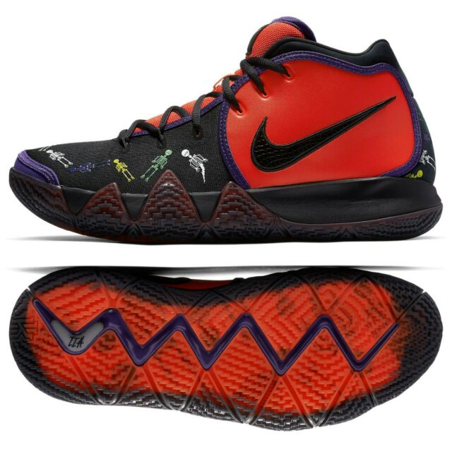 half off 29db5 aaf9f Nike KYRIE 4 DOTD TV PE 1 Day of the Dead CI0278-800 Team Orange/Black Men  Shoes
