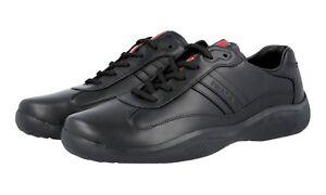 vol 5 43 Americas Prada Sneaker 5 Dnc096 Zwart Bekerschoenen 9 leer Luxe 44 n0P8Owk