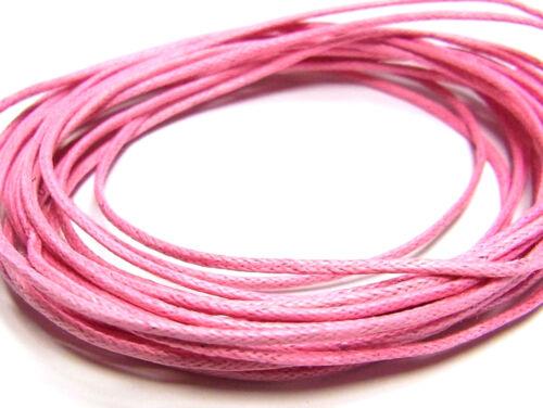 1 mm 10 metros cordón encerado 3168 rosa;