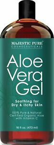Majestic Pure Aloe Vera Gel, From 100% Pure and Natural Organic Cold Pressed Alo