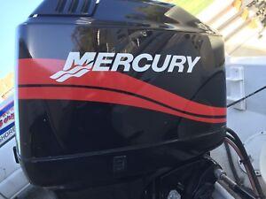 Mercury-Outboard-Engine-Decals-Marine-Vinyl-set-Red-40-50-60-75-or-90-HP