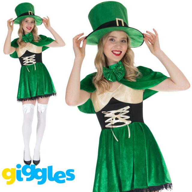 Lucky Irish Adults Shirt Fancy Dress St Patricks Day Leprechaun Top Mens Costume