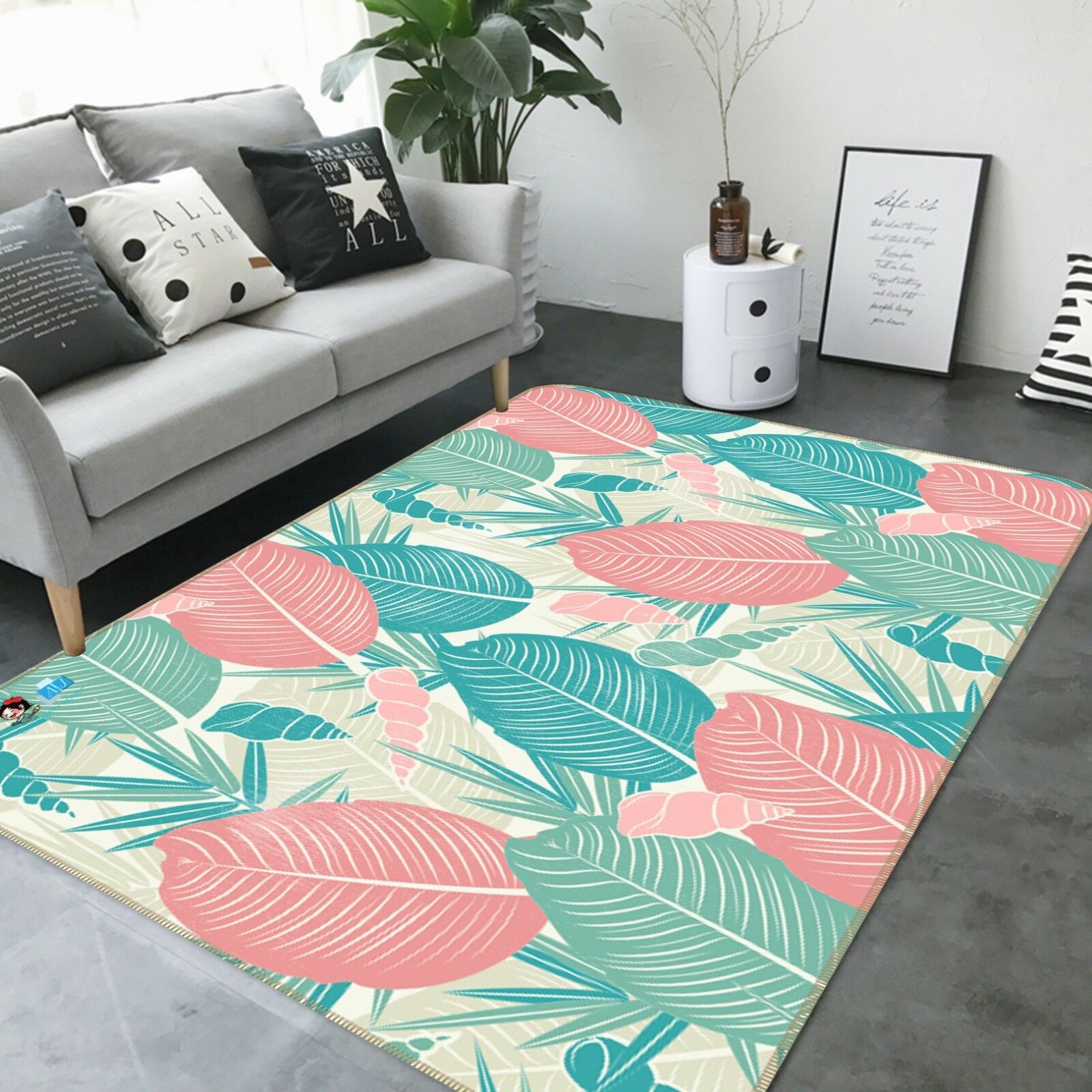 3D Coloree Foliage 325 Non Slip Rug Mat Room Mat Quality Elegant Carpet AU Carly