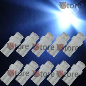 10-Lampade-T10-LED-CONCAVE-BIANCO-Auto-Luci-Per-Targa-Fari-Posizione-12V-360