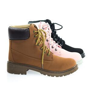 Fashion Work Boots w Lug Sole Padded Collar