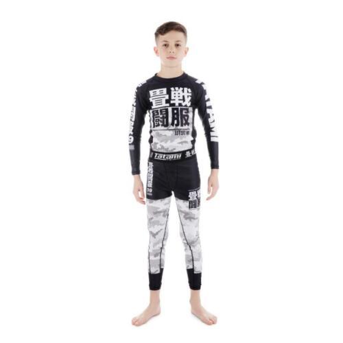Tatami Essential Camo Kids BJJ Spats Childrens MMA Jiu Jitsu Compression Tights