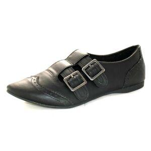 Damas Informal Negro Brogue Puntiagudo Zapatos de Rocket Dog Trabajo Escuela, Tamaños 3-8 Callay