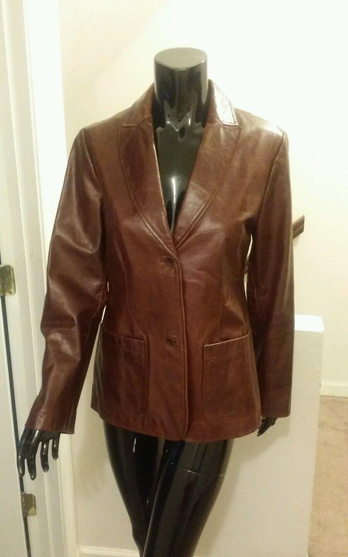 Gap Genuine Leather Blazer Size Medium