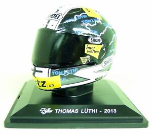 Altaya-1-5-Scale-Thomas-Luthi-2013-Shoei-Moto-GP-Helmet-with-Plinth-and-Case