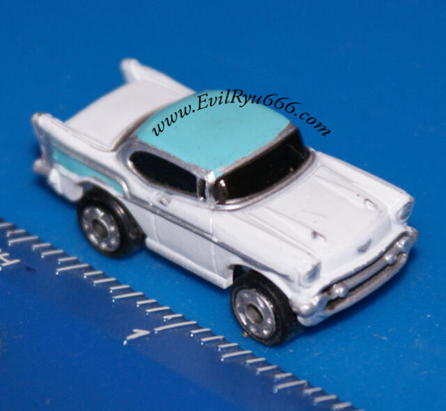 Micro Machines CHEVROLET 57 CHEVY BEL AIR WHITE & Light BLUE  Galoob CAR