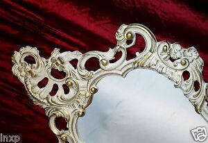 Wandspiegel Antik Barock Spiegel Shabby Chic In Weiß Gold 50x76 Wanddeko 118 **