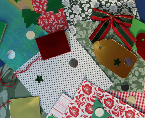 Red and Green Xmas Paper and Card packs 3 Choices Good value!