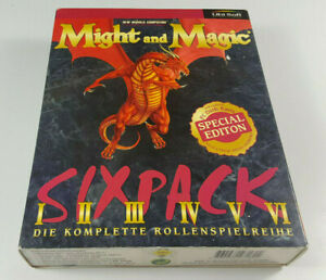 Might-amp-Magic-I-II-III-IV-V-VI-Special-Edt-Sixpack-PC-Big-Box-OVP-CIB-dt-Ver-VG