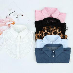 Grain-Cowboy-Cotton-Clothes-Accessories-Shirt-Fake-Collar-Blouse-False-Collar