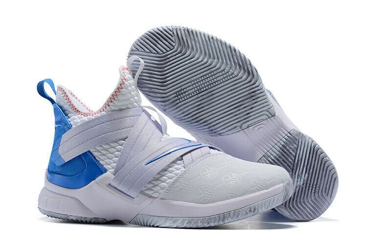 release date d70c0 1cd9d New NIKE Lebron Soldier XII Basketball Sneaker White Provence AO2609-101  Size 13
