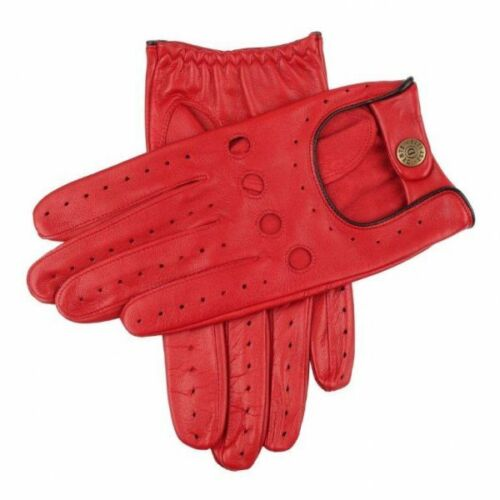 Dents Delta Leather Classic Driving Gloves BERRY/BLACK