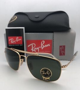 b94114dfb014 New RAY-BAN Sunglasses THE COLONEL RB 3560 001 61-17 Gold Aviator w ...