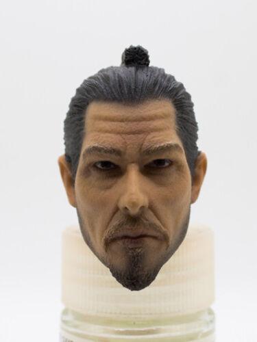 Custom Samurai 2 Head Sculpt 1//6 Scale 12 Inch Figure Hot Toys DAM Soldier Story