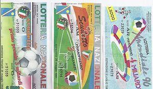 Biglietti Lotteria - 3 pezzi - Calcio - 1990 - 1991 - 1992 - Italia - L'oggetto può essere restituito - Italia