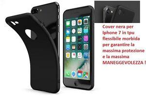 custodia iphone 7 silicone nero