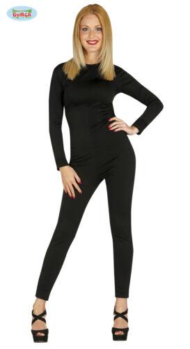 GUIRCA Tuta intera nera sotto costume carnevale donna adulto mod 84867