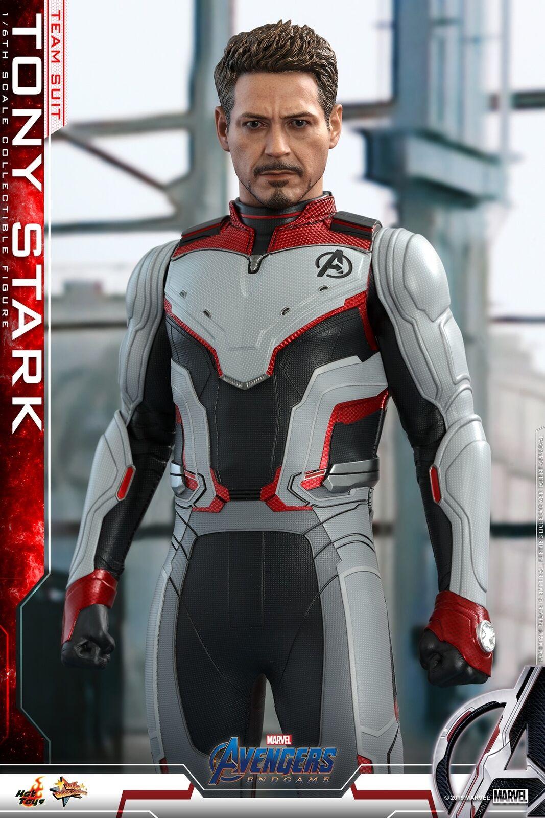 Hot Toys 1 6th Tony Stark (equipo traje) Los Vengadores Tacho Figura De Colección MMS537