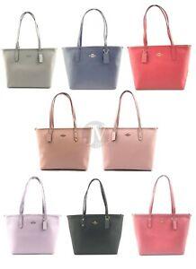 Coach-F58846-Crossgrain-Leather-City-Zip-Tote-Handbag