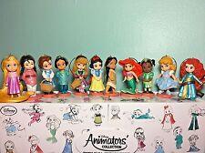Disney Princess Animators Doll Christmas Ornament Set 11pc Ariel Jasmine Mulan