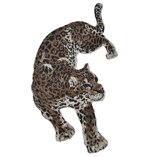 1 Pair Leopard Embroidery Patches for Coat Jacket Jeans Applique Sew on Supplies