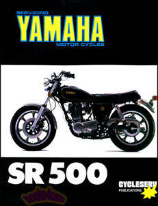Yamaha Sr500 Shop Manual Service Repair Book Sr 500 Service Single 75 83 Ebay