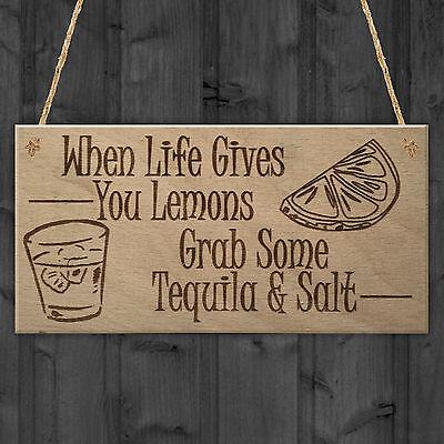 Tequila When Life Gives You Lemons Drink Bar Pub Gift Quality Fridge Magnet