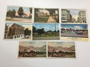8 postcards New York Lake George Binghamton Endicott Buffalo hotel Prudential