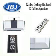 JBJ Rimless Desktop Flat Panel 10 Gallon Aquarium with 10w Lyra LED RL-10-FP