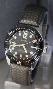 56f53680d7a Raro Vintage Jaeger relógio de mergulho 20 ATM data Diver Mercado ...