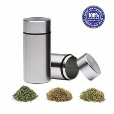2x Airtight Smell Proof Container - New Aluminum Herb Stash Storage Jar