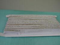 10 Yards Rhinestone Trim Crystal Banding Silver-white Net Ss19