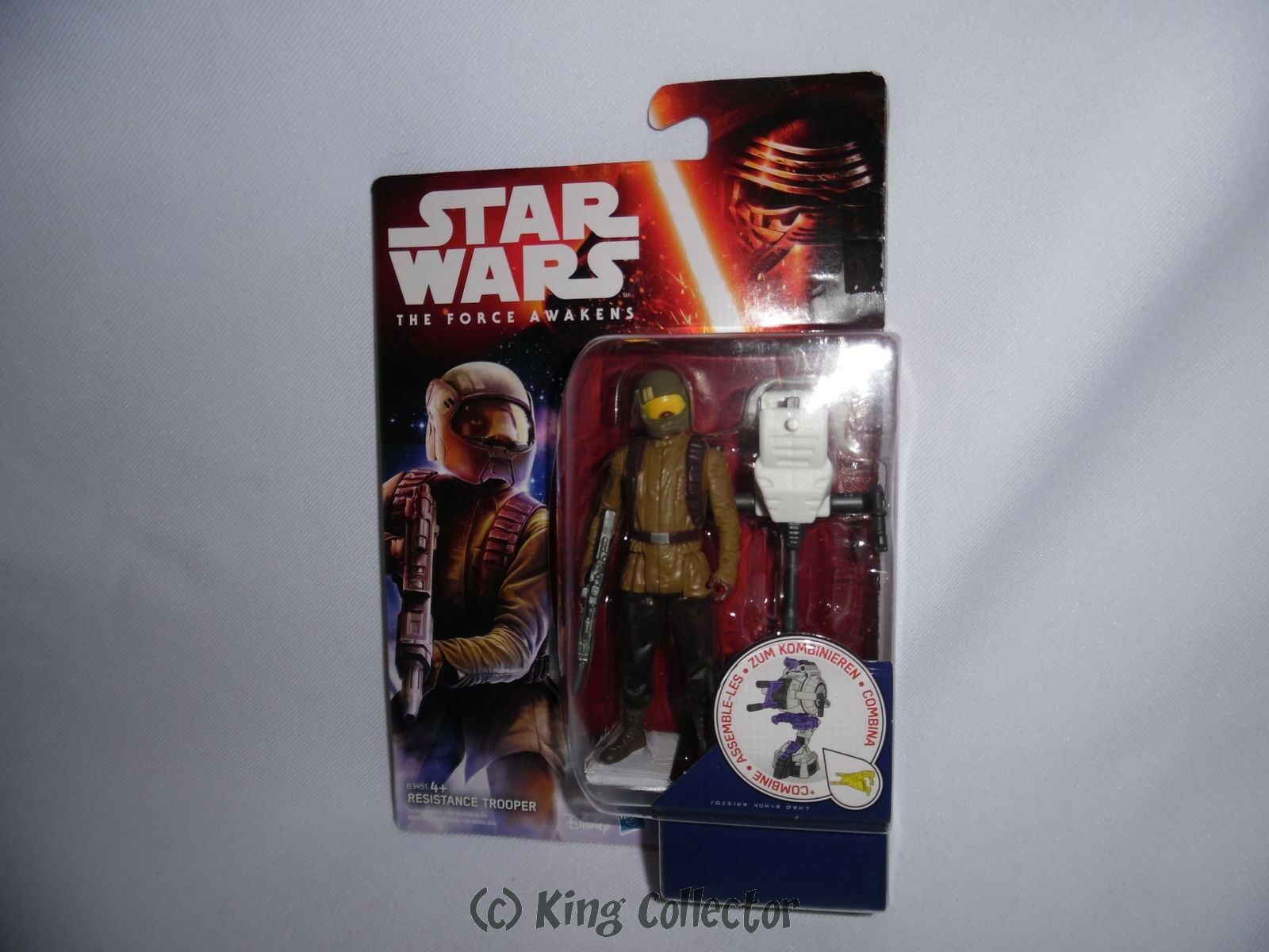 StarWars figurine : Figurine - Star Wars - Jungle/Space Wave - Resistance Trooper - Hasbro