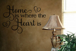 Home Is Where The Heart Is Lettering Vinyl Wall Decals