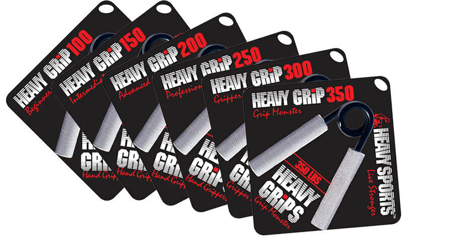 Heavy Grips   Hand Gripper   SET OF ALL 6 GRIPPERS   100% AUTHENTIC   BEST VALUE
