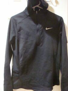 95c54438366 Womens Nike Thermal Dri-FIT Quarter-Zip Running Hoodie Black 685808 ...