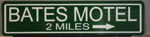 "METAL STREET SIGN /"" BATES MOTEL /"" PSYCHO THRILLER HORROR NORMAN 1957 57 FORD"