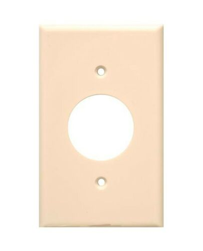 1-Gang Single Receptacle Outlet Wall Plate Lexan Plastic Wallplate IVORY 1 pc