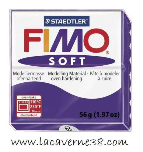 création bijoux perles Pain de pâte polymère FIMO Soft prune 63