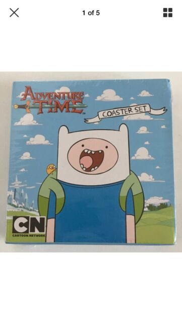 Adventure Time Characters Drinking Coaster Set 4 Boxed Stocking Filler Bar Mat