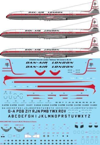 Dan Air London decals 26Decals 1//144 de Havilland DH 106 Comet