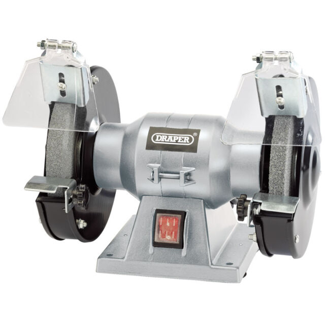Draper 150mm 15.2cm Atelier Meuleuse Banc Double Grincement Pierres 150w 240v
