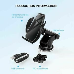 15W-Qi-Wireless-Car-Charger-Holder-Cradle-Infrared-Inductive-For-iPhone-12-11-XS