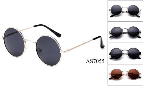 Retro John Lennon Sunglasses Classic Round Vintage Hippie Glasses Spring Temple