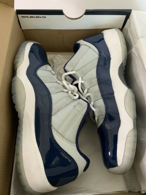 Nike Air Jordan11 XI Retro Low Georgetown Grey White Navy Kids Boys Mens Sz 5.5Y