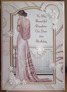 Handmade art deco personalised 21st birthday card with a graceful image is loading handmade art deco personalised 21st birthday card with bookmarktalkfo Choice Image
